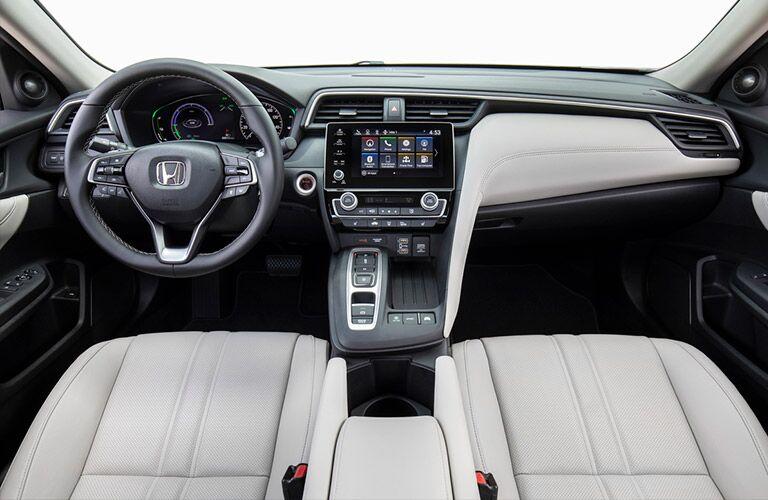 2020 Honda Insight dashboard and steering wheel