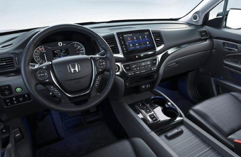 2020 Honda Ridgeline dashboard and steering wheel