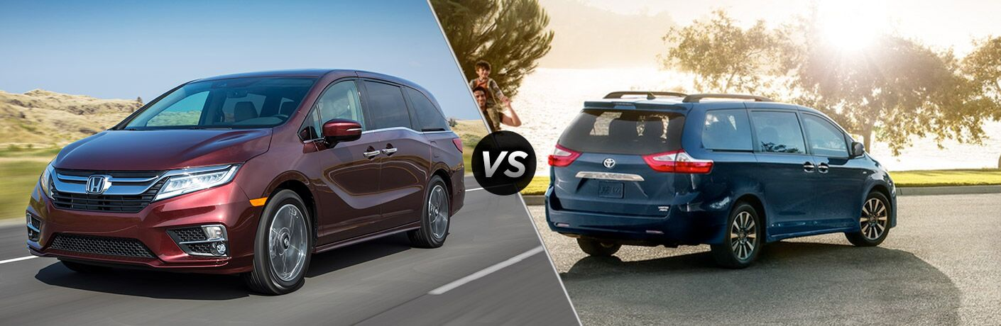 A Side By Side Comparison Of The 2019 Honda Odyssey Vs. 2019 Toyota
