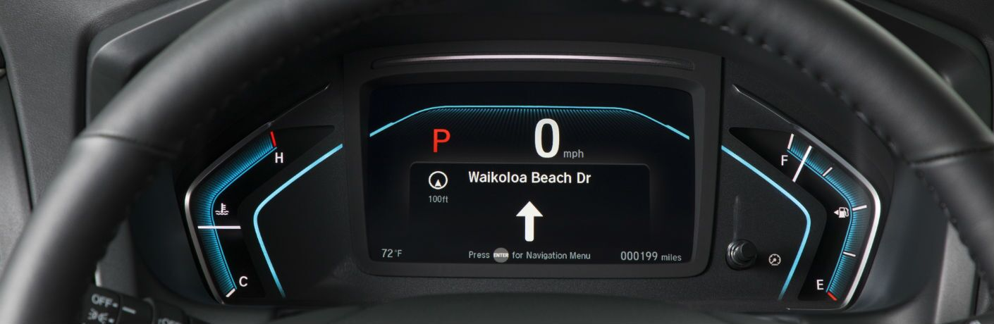 A photo of a driver's information display used by the 2019 Odyssey.