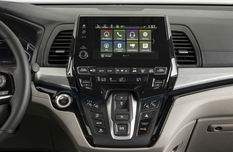 A photo of the infotainment system in the 2019 Odyssey.