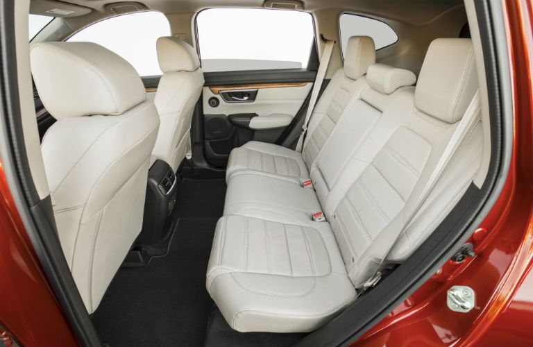 Another interior photo showing the rear seats deployed for passengers in the 2018 CR-V.