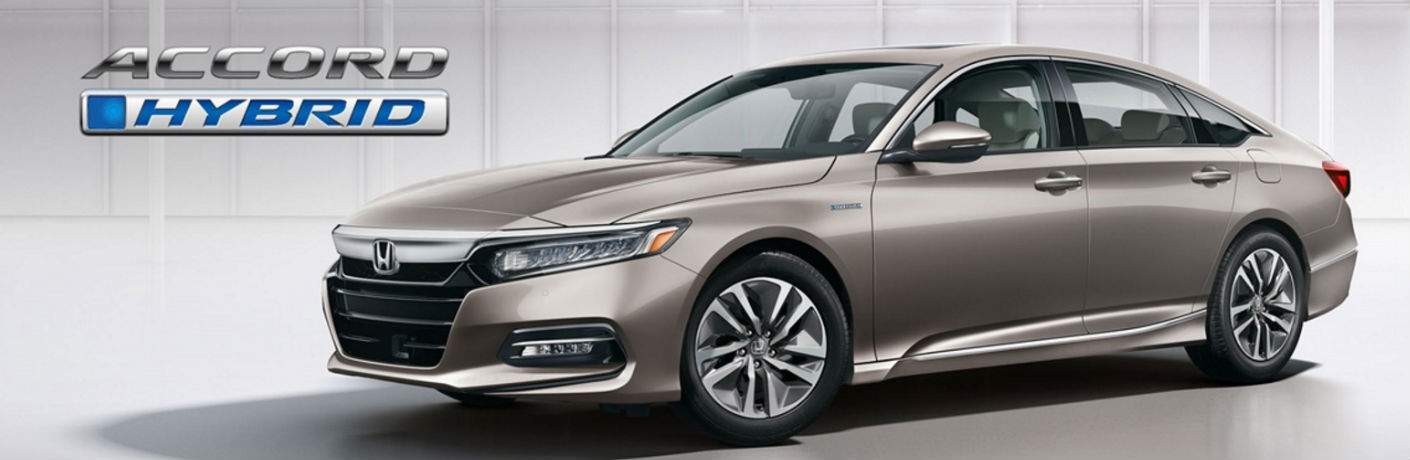 2018 Honda Accord Hyrbid Exterior View in Gray