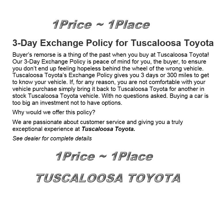 Toyota Care Extended Warranty: Exchange Policy