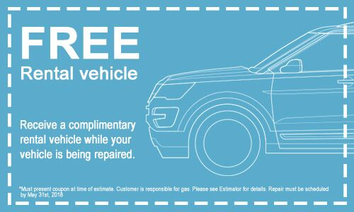 Receive a Complimentary Rental Vehicle to use whole your vehicle is being repaired. Rental vehicles can cost up to $55 a day and in most cases, ...