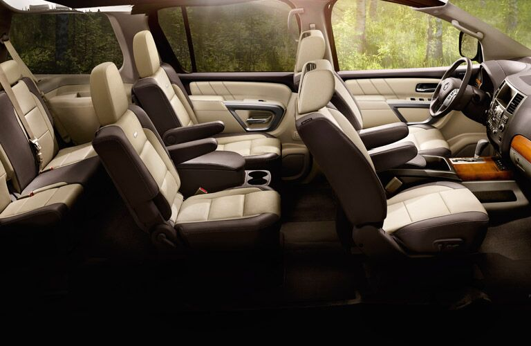captain chairs seating in nissan armada