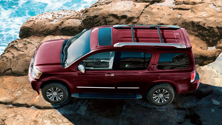 aerial view of nissan armada roof racks