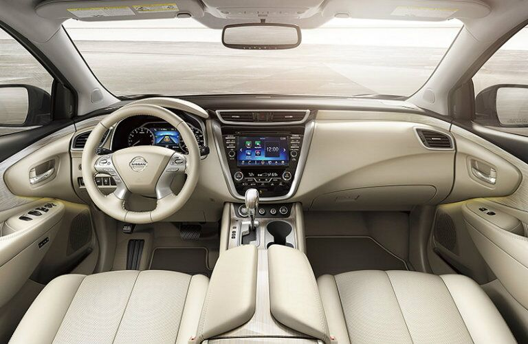 front interior of 2016 nissan murano