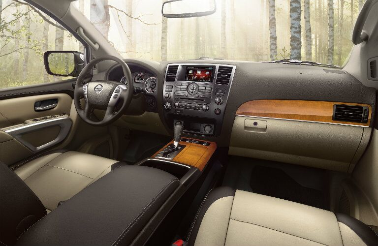 front seats and dash of nissan armada