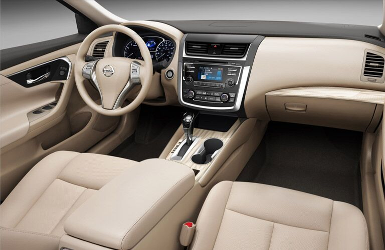 leather interior seating of nissan altima