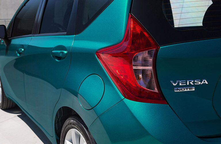 tailights and badging of versa note