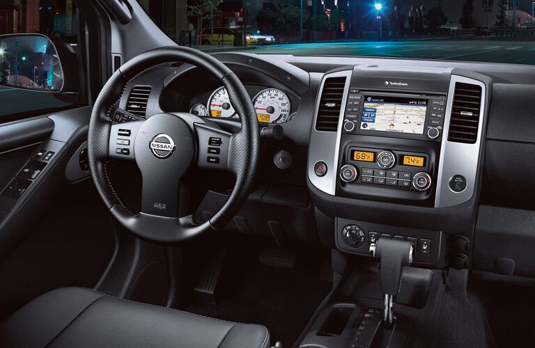 dash and digital cluster display of nissan frontier