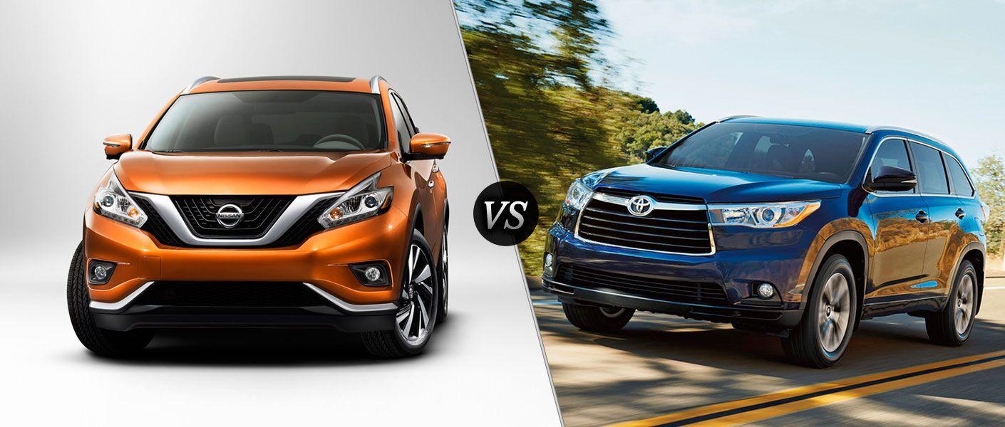 2016 Nissan Murano vs 2016 Toyota Highlander