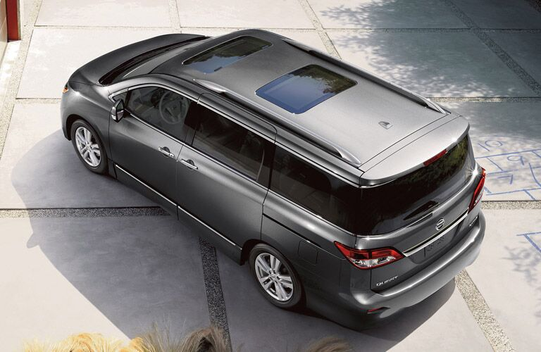 aerial view duel moonroof nissan quesn
