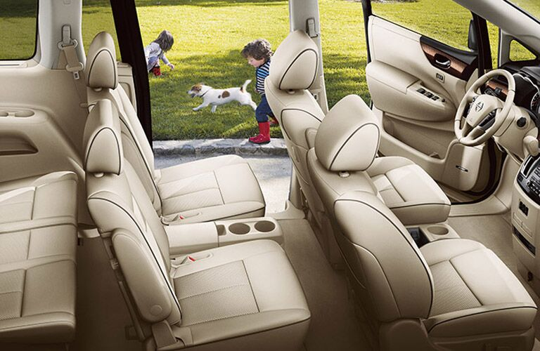 three rows of seating nissan quest