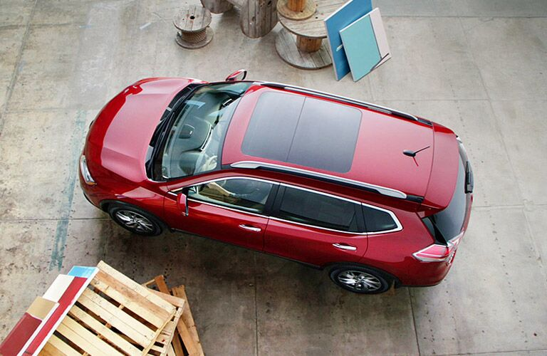 birds eye view of nissan rogue