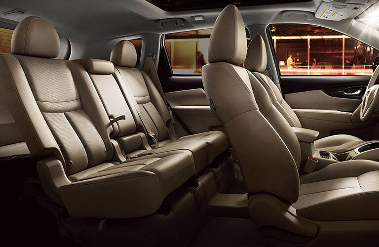 three rows of seating in nissan rogue