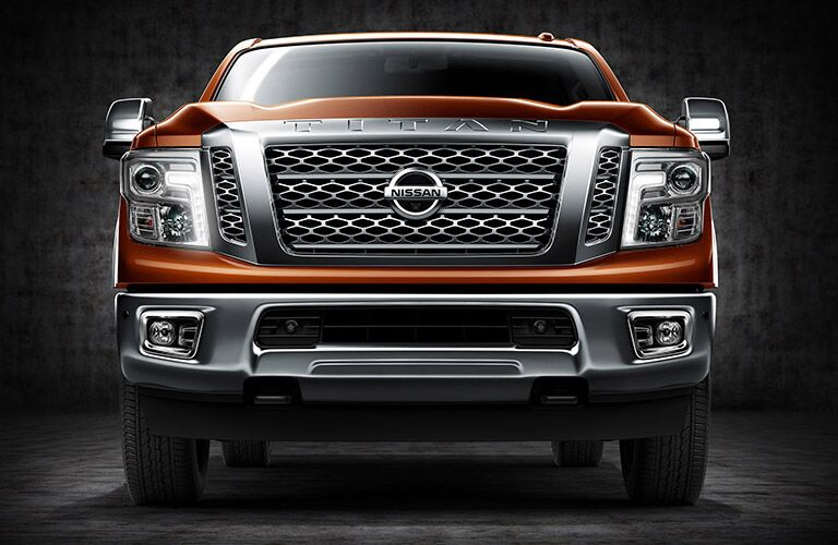 front end grille design of nissan titan xd