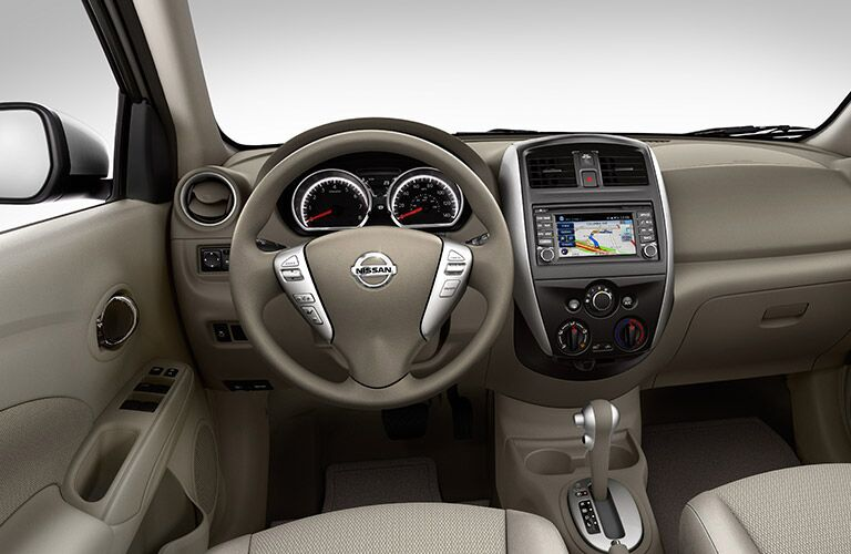 dash and display of nissan versa