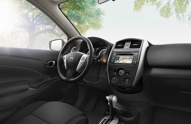 interior of the 2016 nissan versa