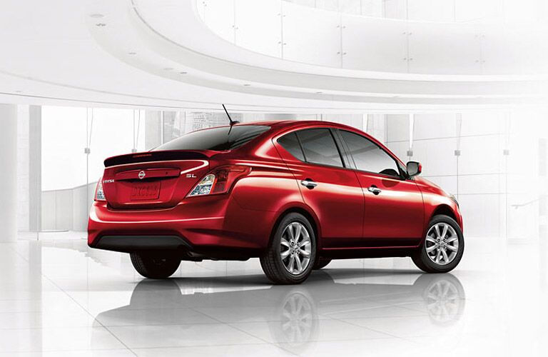 rearview of hte 2016 nissan versa