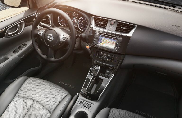 interior of the 2016 nissan sentra