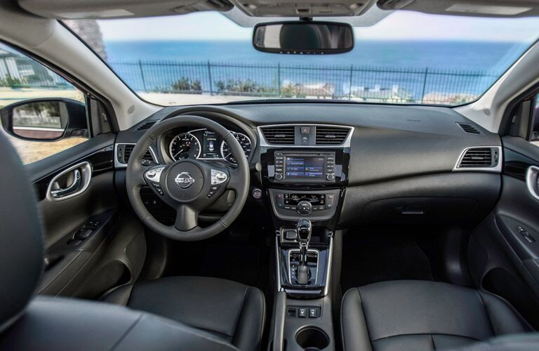 front interior of 2016 nissan sentra