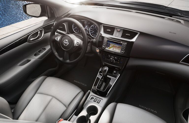 interior design and technology of nissan sentra