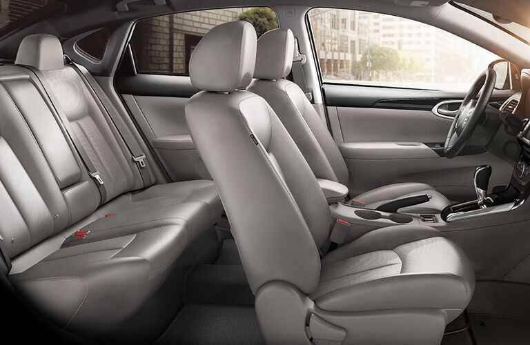interior seating and space of nissan sentra