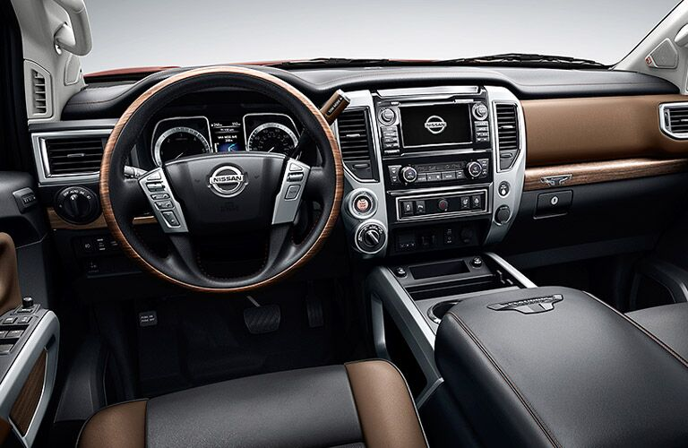 steering wheel and dash of 2016 nissan titan xd