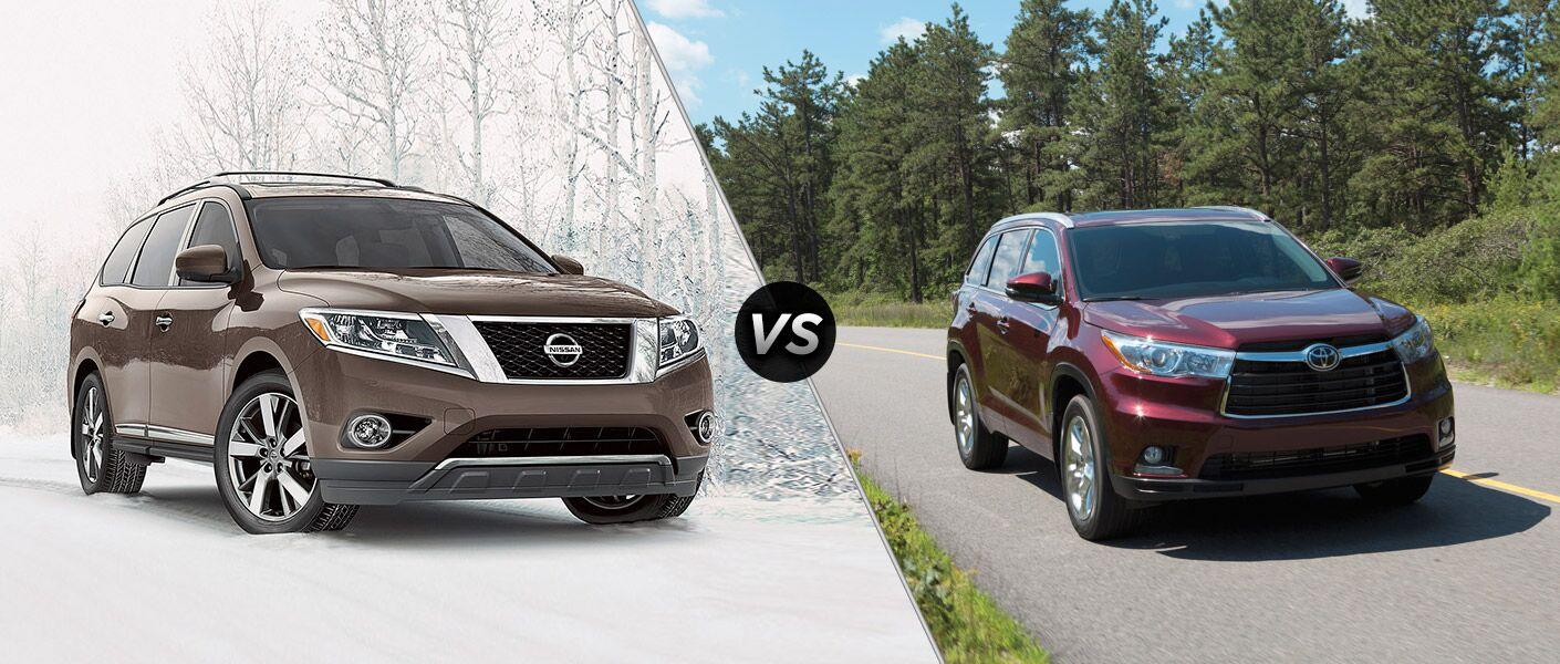 2016 Nissan Pathfinder vs 2016 Toyota Highlander
