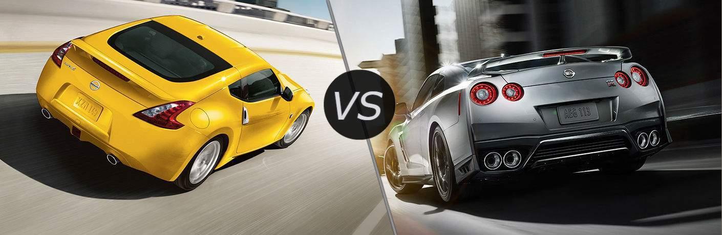 2017 Nissan 370Z vs 2017 Nissan GT-R