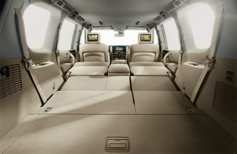 2017 Nissan Armada Cargo space with seats folded