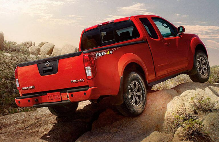 rearview of nissan frontier