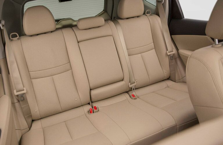rear seating in the 2017 Nissan Rogue