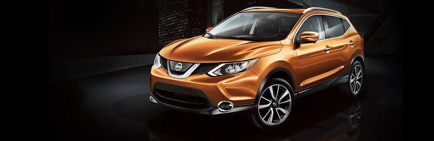 Monarch Orange 2017 Nissan Rogue Sport exterior front side view