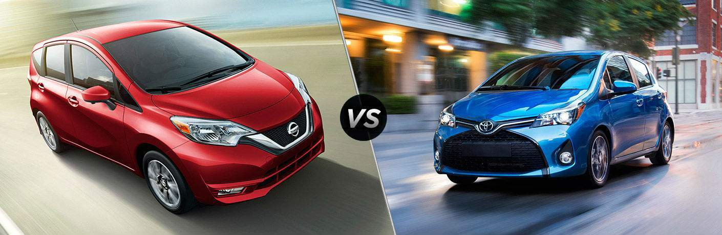 2017 Nissan Versa Note vs 2017 Toyota Yaris