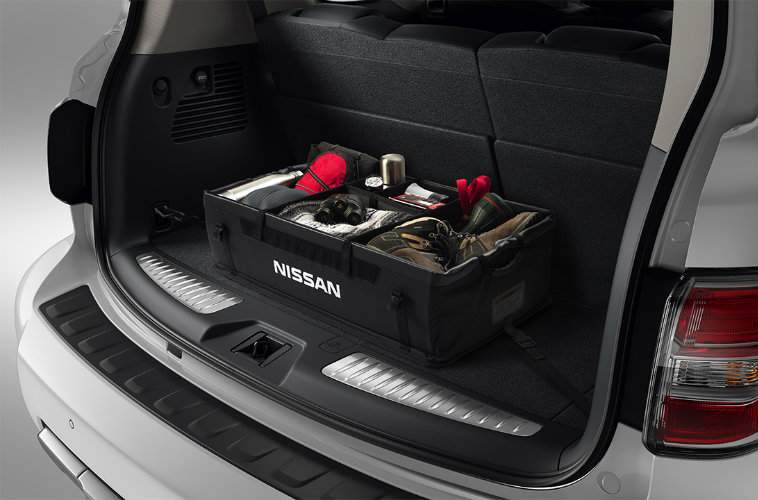 2017 Nissan Armada Cargo Space with optional organizer
