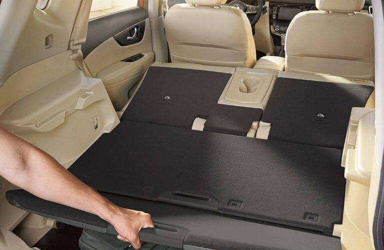 2017 Nissan Rogue Cargo space with seats folded