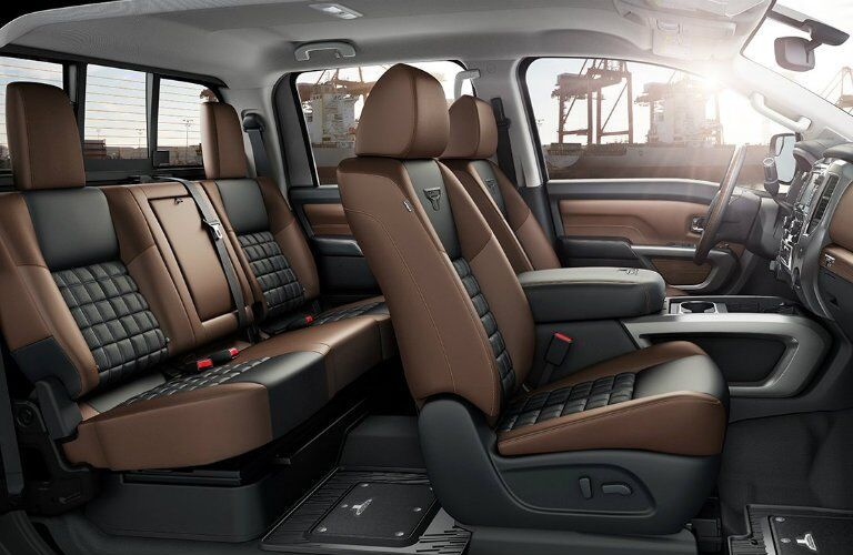 2017 Nissan Titan Two-Tone Leather Interior Double Cab