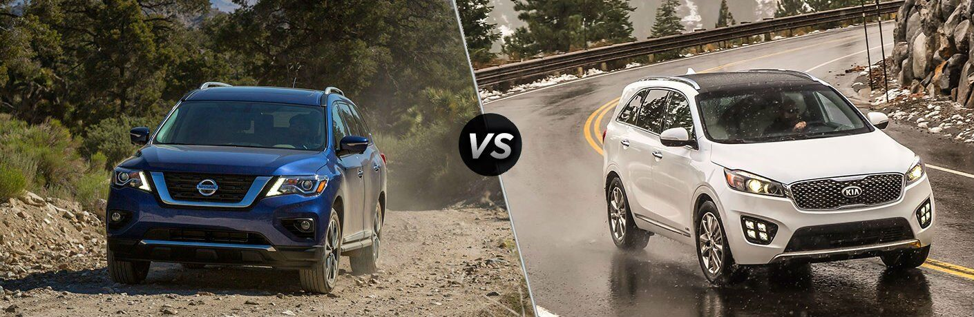 2017 Nissan Pathfinder vs 2017 Kia Sorento