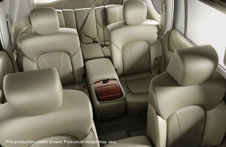 Interior of the 2017 Nissan Armada in Cream