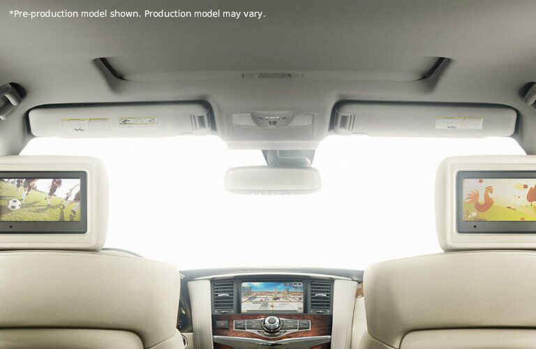Technology inside the interior of the 2017 Nissan Armada