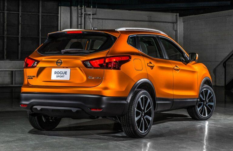 orange 2017 Nissan Rogue Sport exterior rear