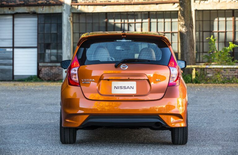 rear hatch design on the 2017 nissan versa note