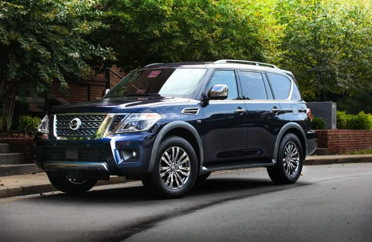2018 Nissan Armada Platinum Reserve exterior parked on road