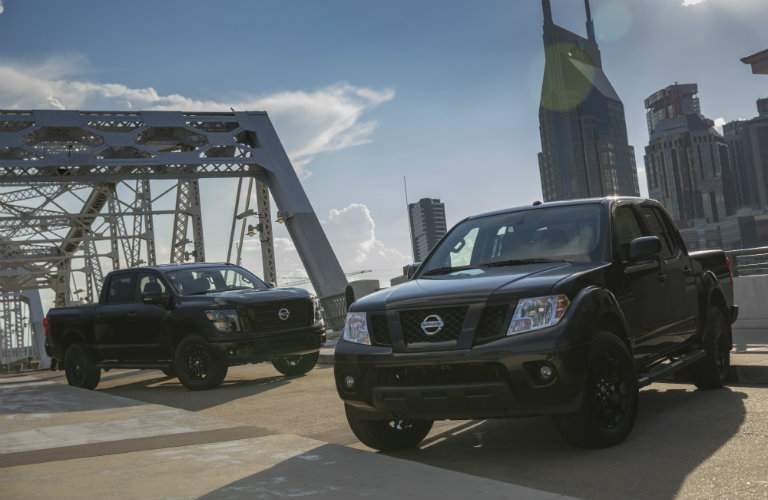 2018 Nissan Frontier and 2018 Nissan Titan Midnight Edition