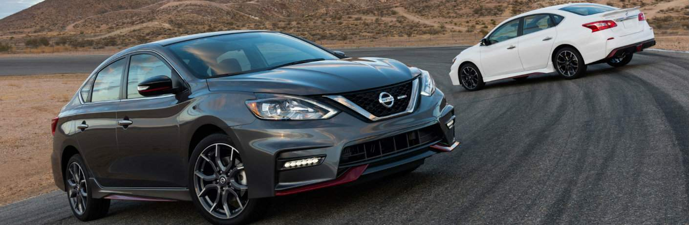 2018 Nissan Sentra nismo in black and white color options