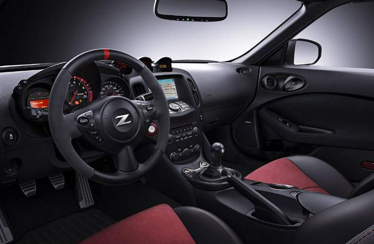 2018 Nissan 370z Coupe Nismo interior black red leather
