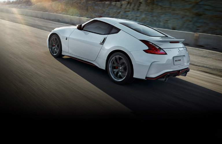 2018 Nissan 370z Coupe Nismo white rolling shot